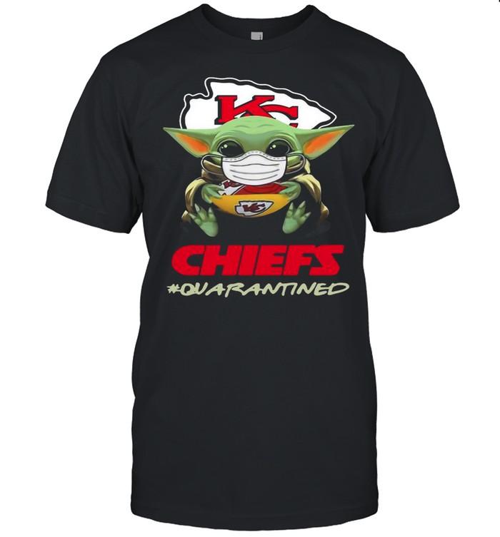 Baby Yoda Face Mask Hug Chiefs 2021 Quarantined shirt Classic Men's T-shirt