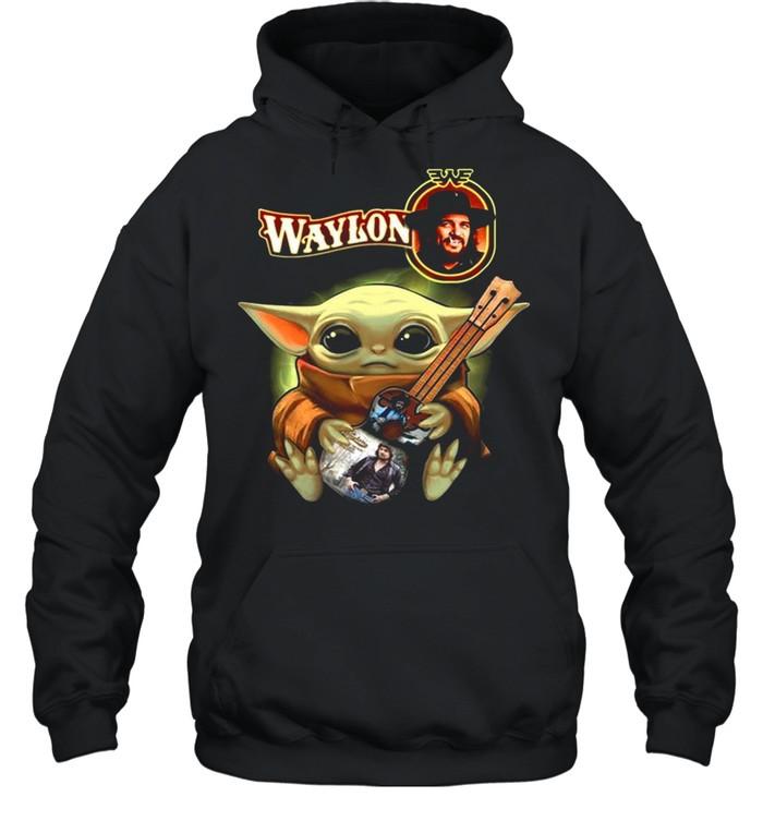 Baby Yoda Hug Waylon 2021 shirt Unisex Hoodie