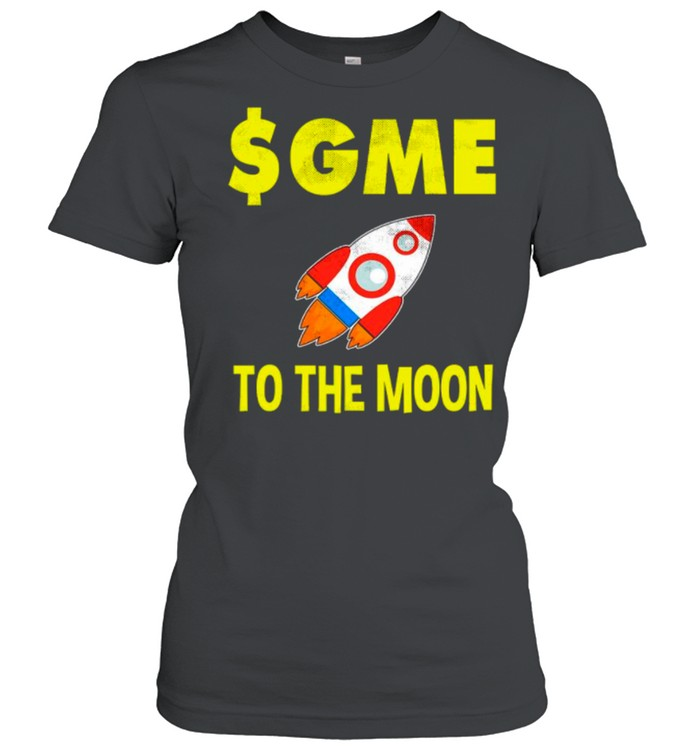 $GME To The Moon Ff GameStonk shirt Classic Women's T-shirt