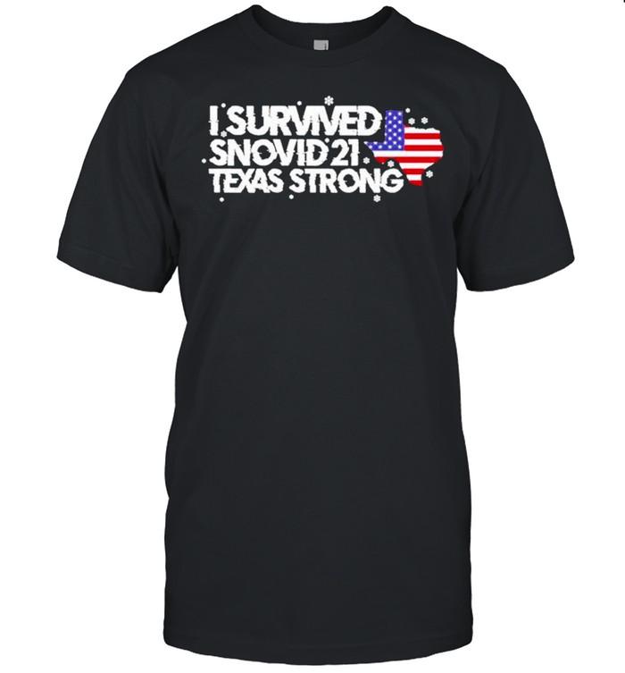 I survived Snovid 2021 Texas Strong America flag shirt Classic Men's T-shirt