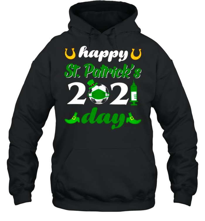Happy St Patricks Day 2021 Soccer Face Mask With Covid19 shirt Unisex Hoodie