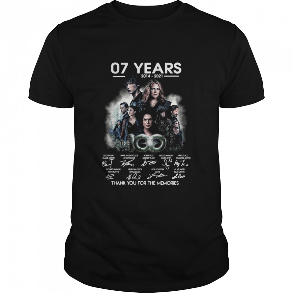 07 Years 2014 2021 The 100 Signatures Thank You For The Memories T-shirt Classic Men's T-shirt