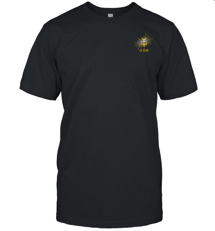 1% Club Navy Master Chief E9 MCPO Pride  Classic Men's T-shirt