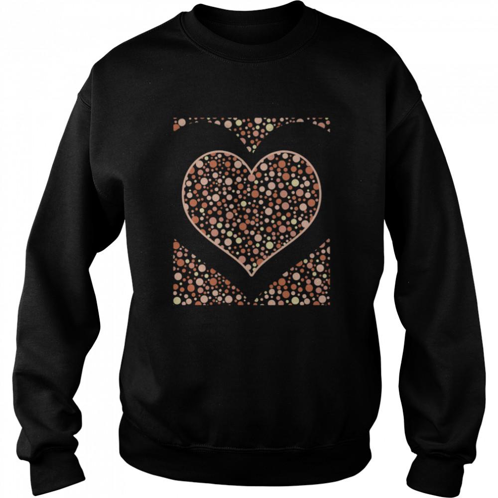 Bohemian Abstract Heart Love Polka Dots Boho  Unisex Sweatshirt