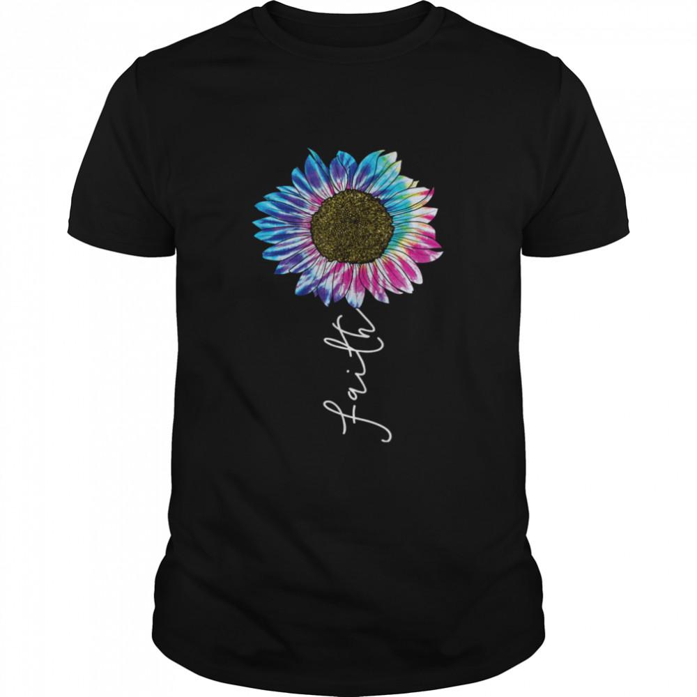 Christian Faith Sunflower Watercolor Tie Dye  Classic Men's T-shirt